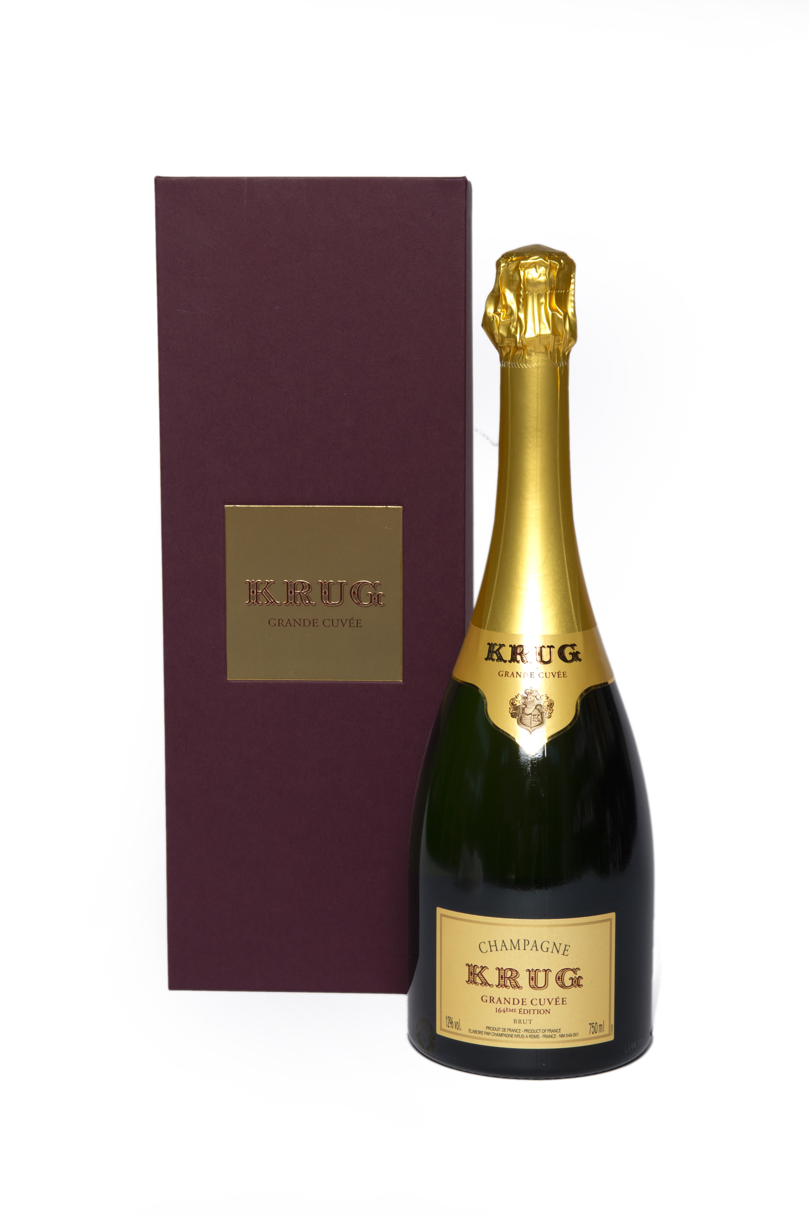 Champagne Krug 164th Cofanetto bordeaux