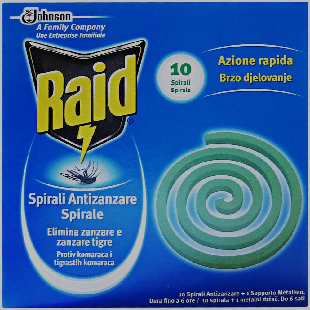 RAID Spirale Antizanzare 10 Pezzi