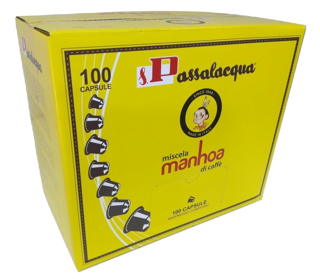100 CAPSULE PASSALACQUA NESPRESSO MANHOA