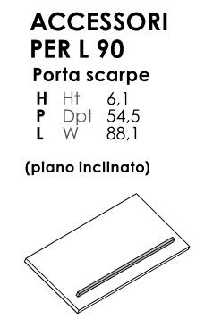 PORTA SCARPE CON PIANO INCLINATO ARMADIO BATTENTE VOLO
