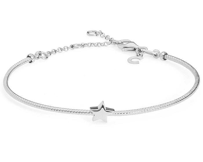 Comete Bracciale Stella, rigido argento