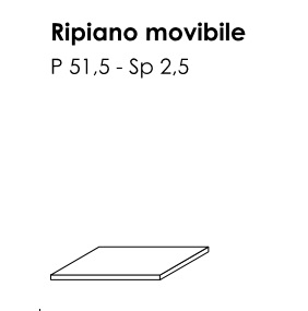 RIPIANO INTERNO ARMADIO BATTENTE GOLF