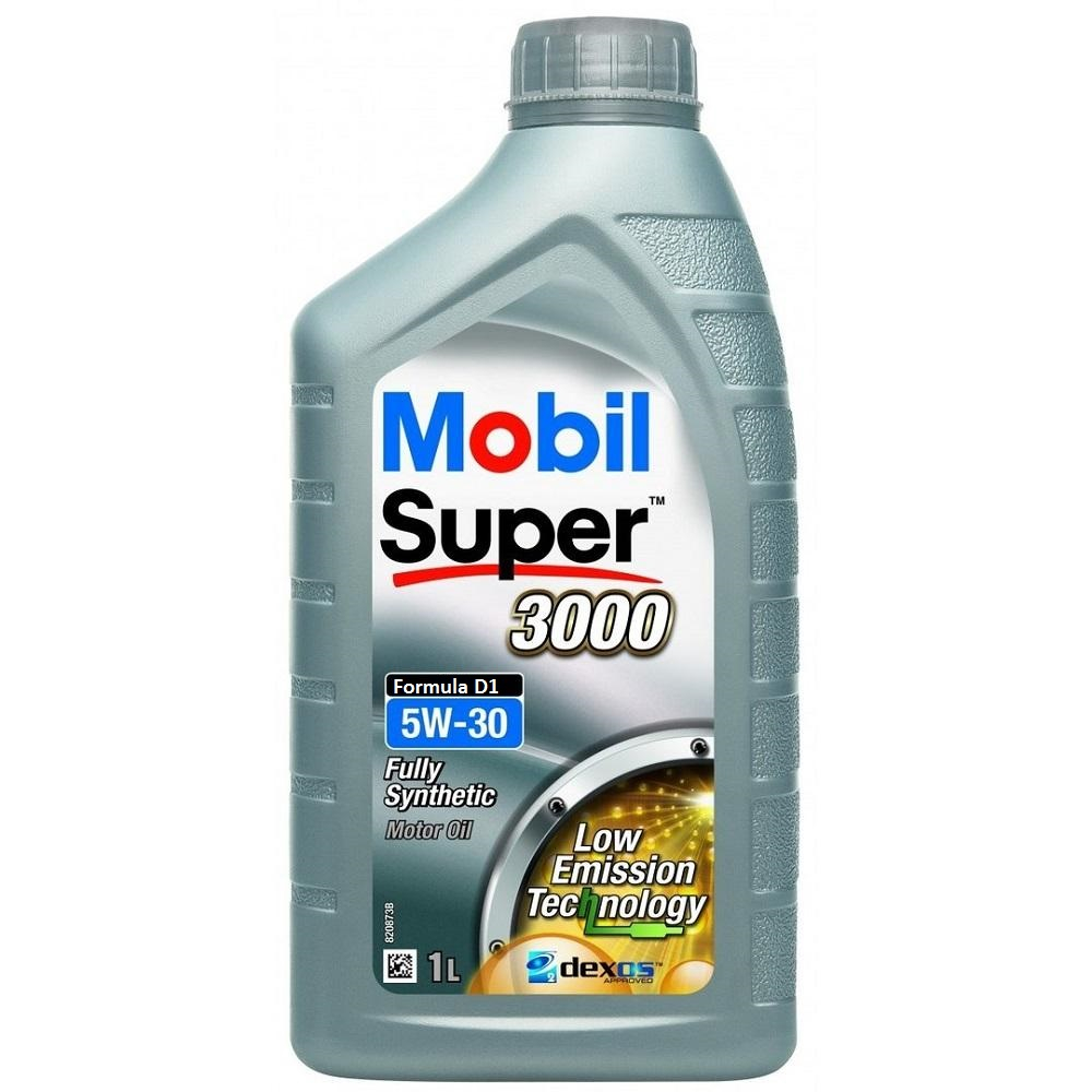 OLIO MOTORE MOBIL SUPER 3000 FULLY SYNTHETIC FORMULA D1 5W30 1L