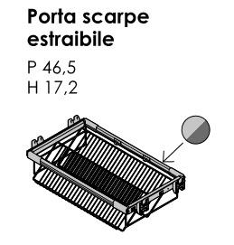 PORTA SCARPE ESTRAIBILE PER ARMADIO BATTENTE GOLF
