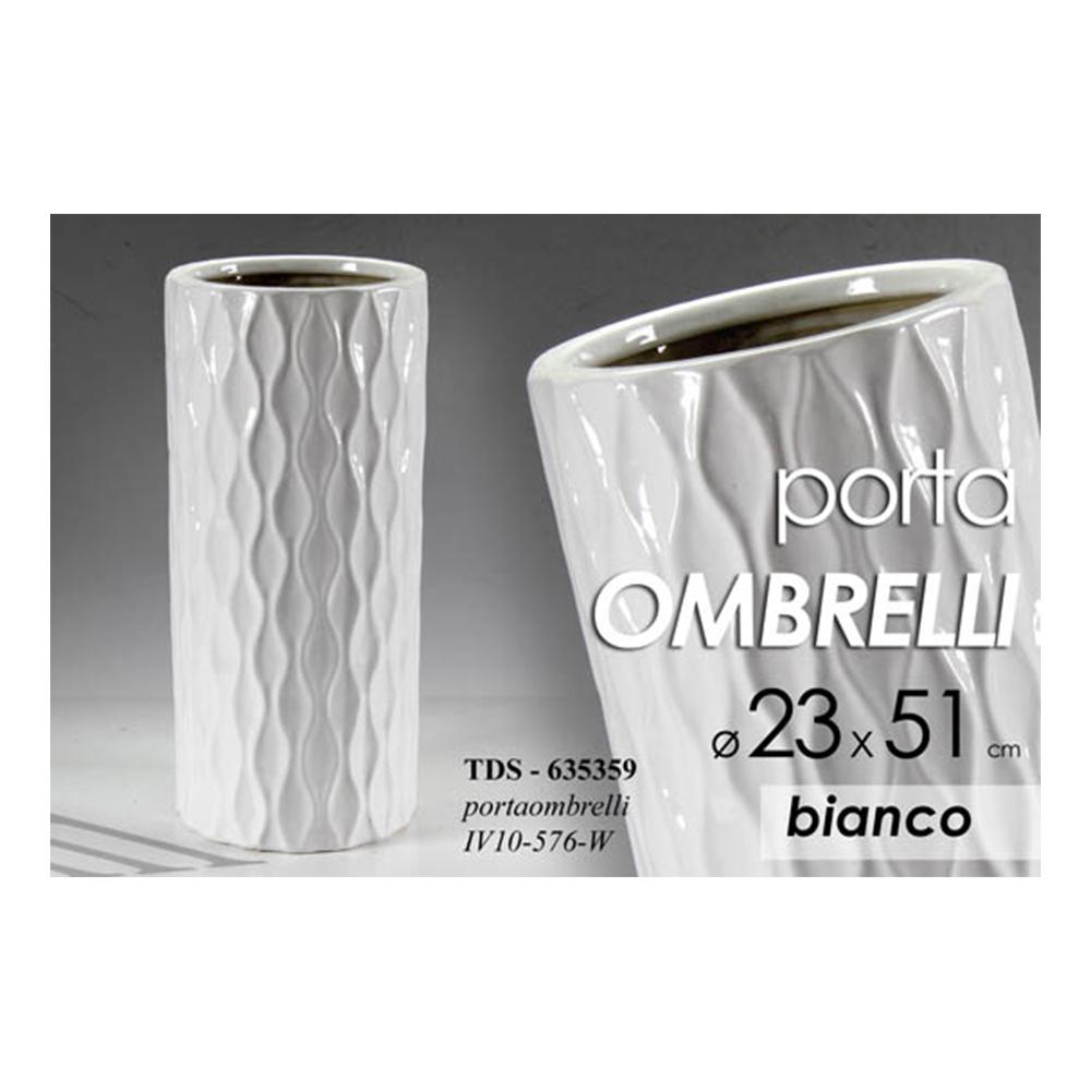 Portaombrelli in Ceramica Bianca