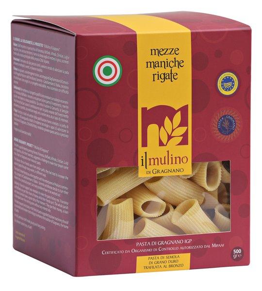 Pasta Il Mulino di Gragnano Mezze Maniche Rigate GR.500
