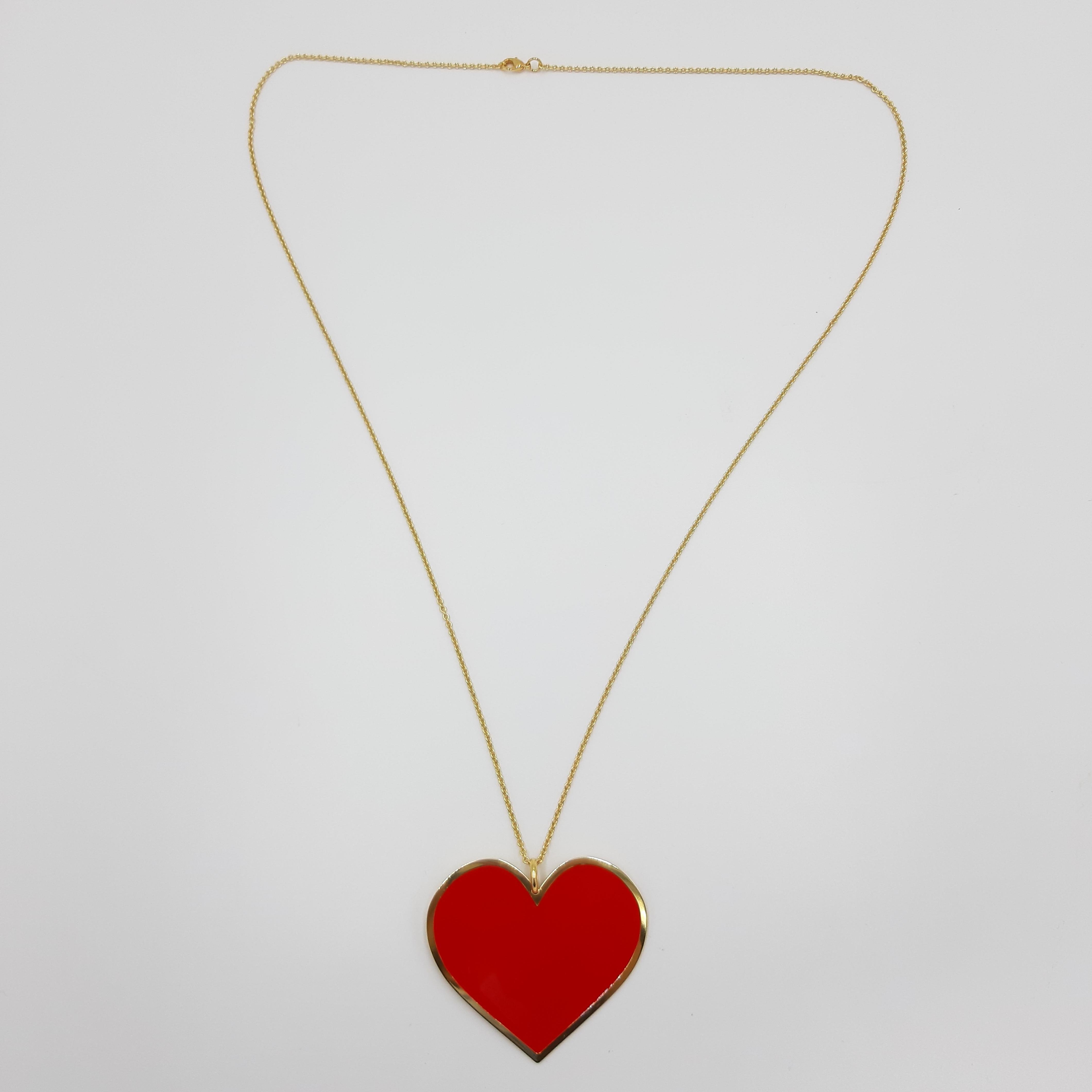 Collana lunga con cuore rosso Francesca Bianchi Design
