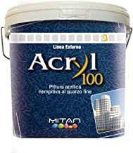 Mitan acryl 100 pittura acrilica al quarzo bianca 14lt