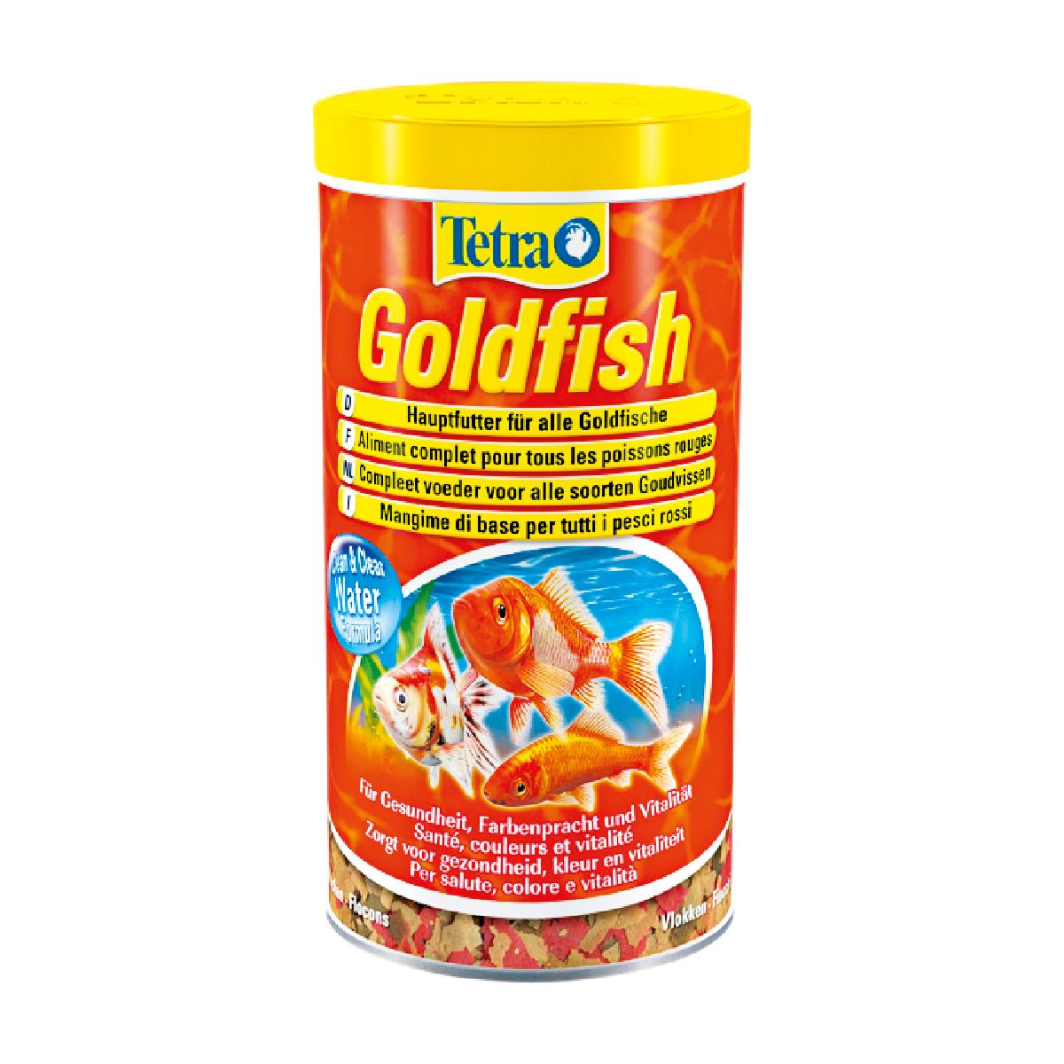 Tetra Goldfish Mangime di base in fiocchi per tutti i pesci rossi 250ml