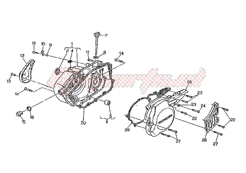 Coperchio Generatore Cagiva W8 125