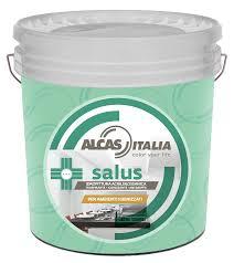 Alcas salus pittura acrilsilossanica traspirante igienizzante bianca 14lt