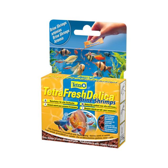 TETRA FRESHDELICA BRINE SHRIMPS mangime naturale per pesci ornamentali  (ARTEMIA) 48 GR.