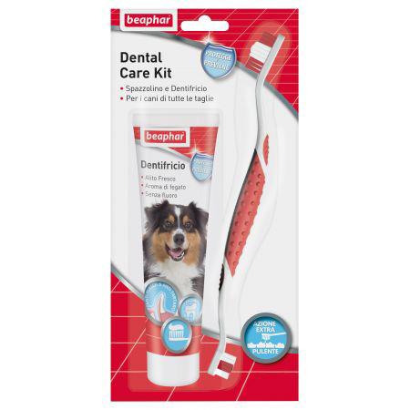 Beaphar Dental Care Kit per cani  spazzolino + dentifricio