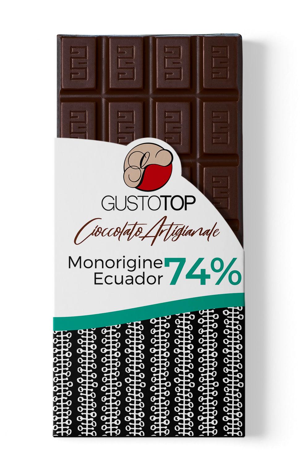 Tavoletta di Cioccolato fondente 74% Ecuador 100g