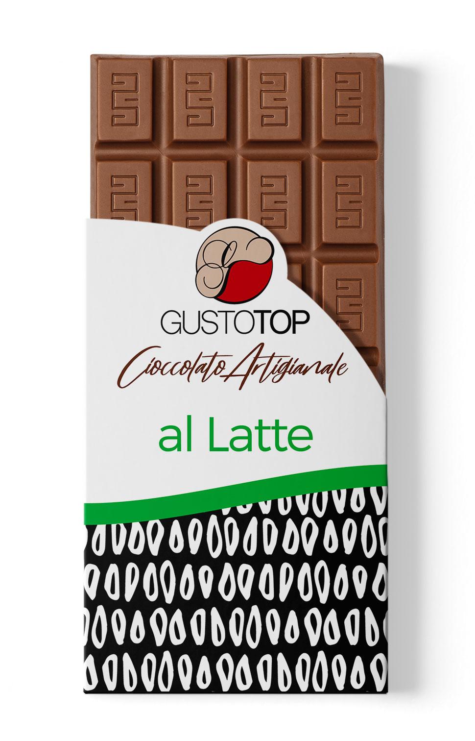 Tavoletta di cioccolato al latte 35%, confezione da gr 100