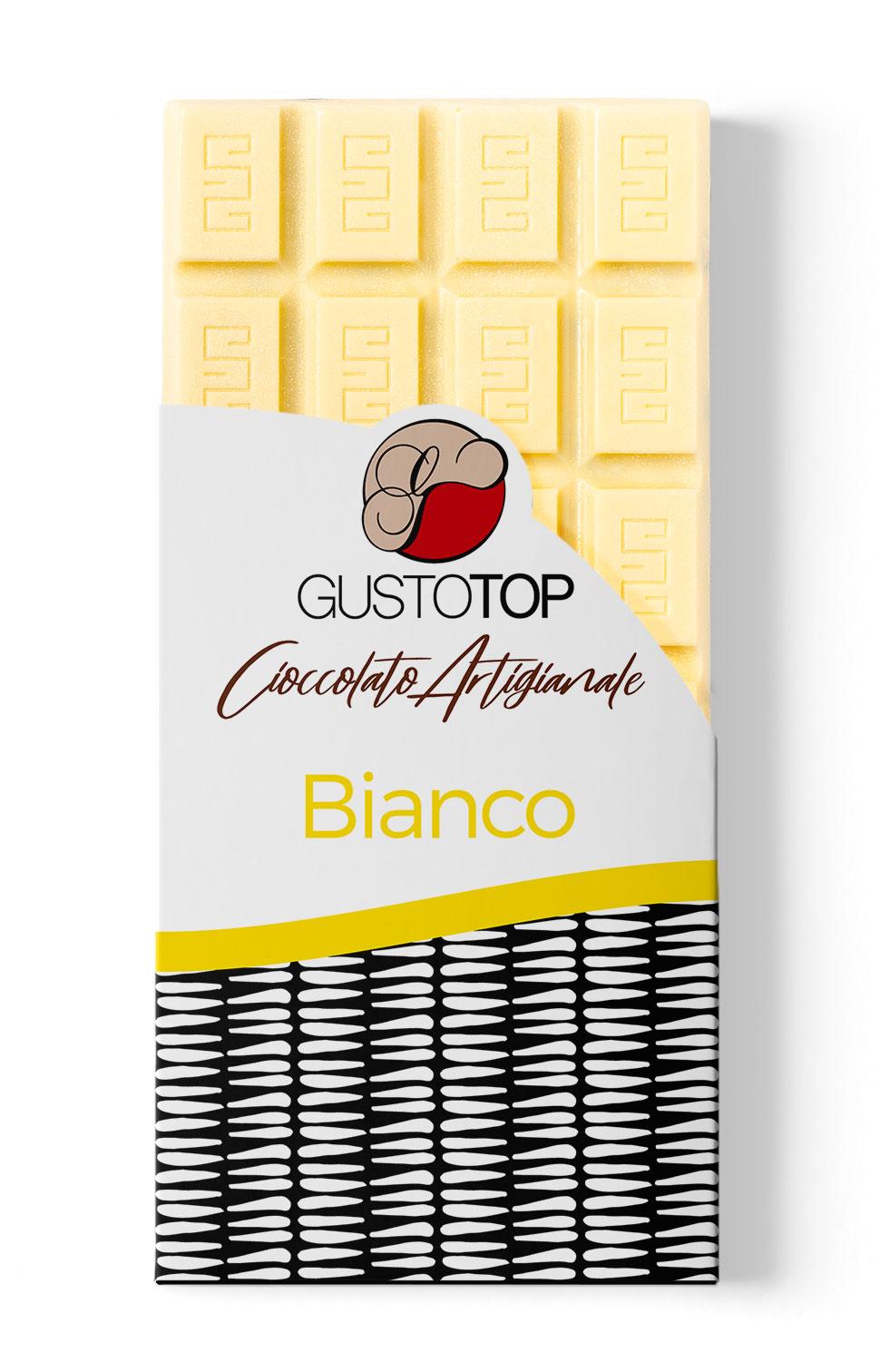 Tavolette di cioccolato bianco, confezione da gr 80