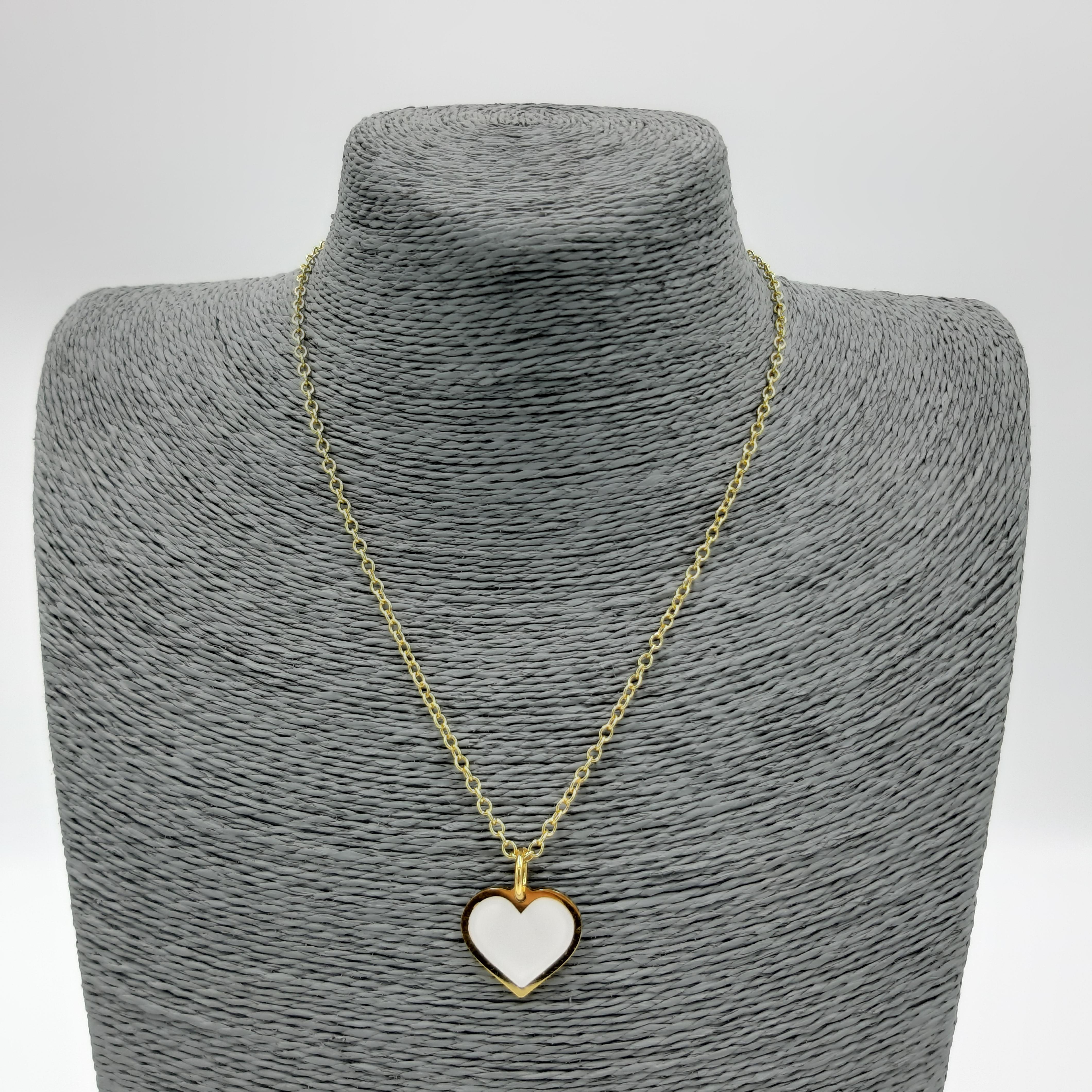 Collana con cuore bianco Francesca Bianchi Design