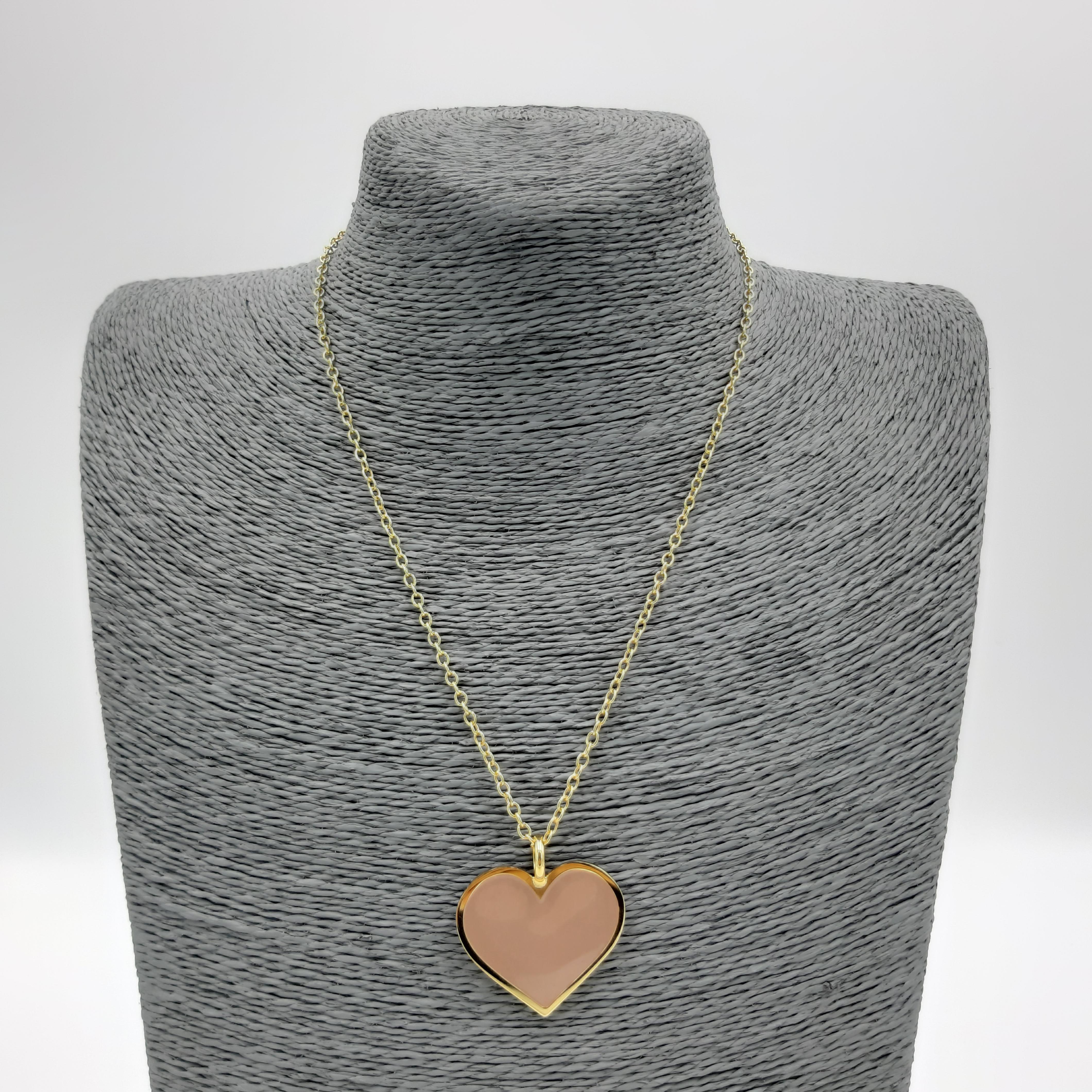 Collana con cuore nudo Francesca Bianchi Design