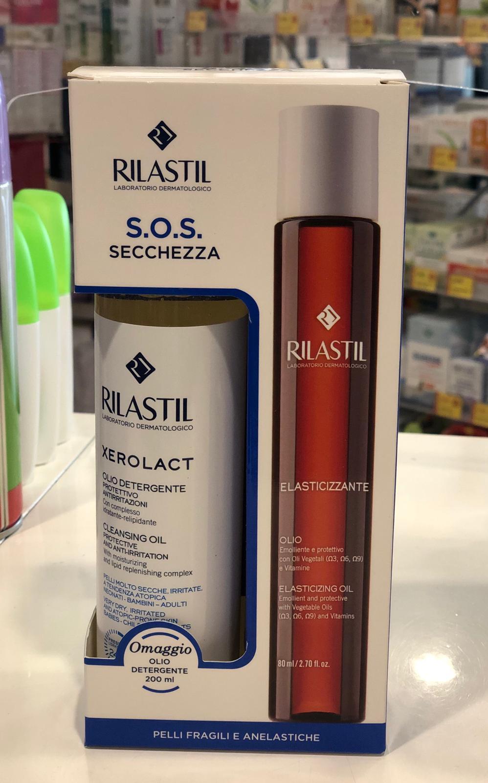 Rilastil olio elasticizzante 80 ml + Xerolact olio detergente 200 ml