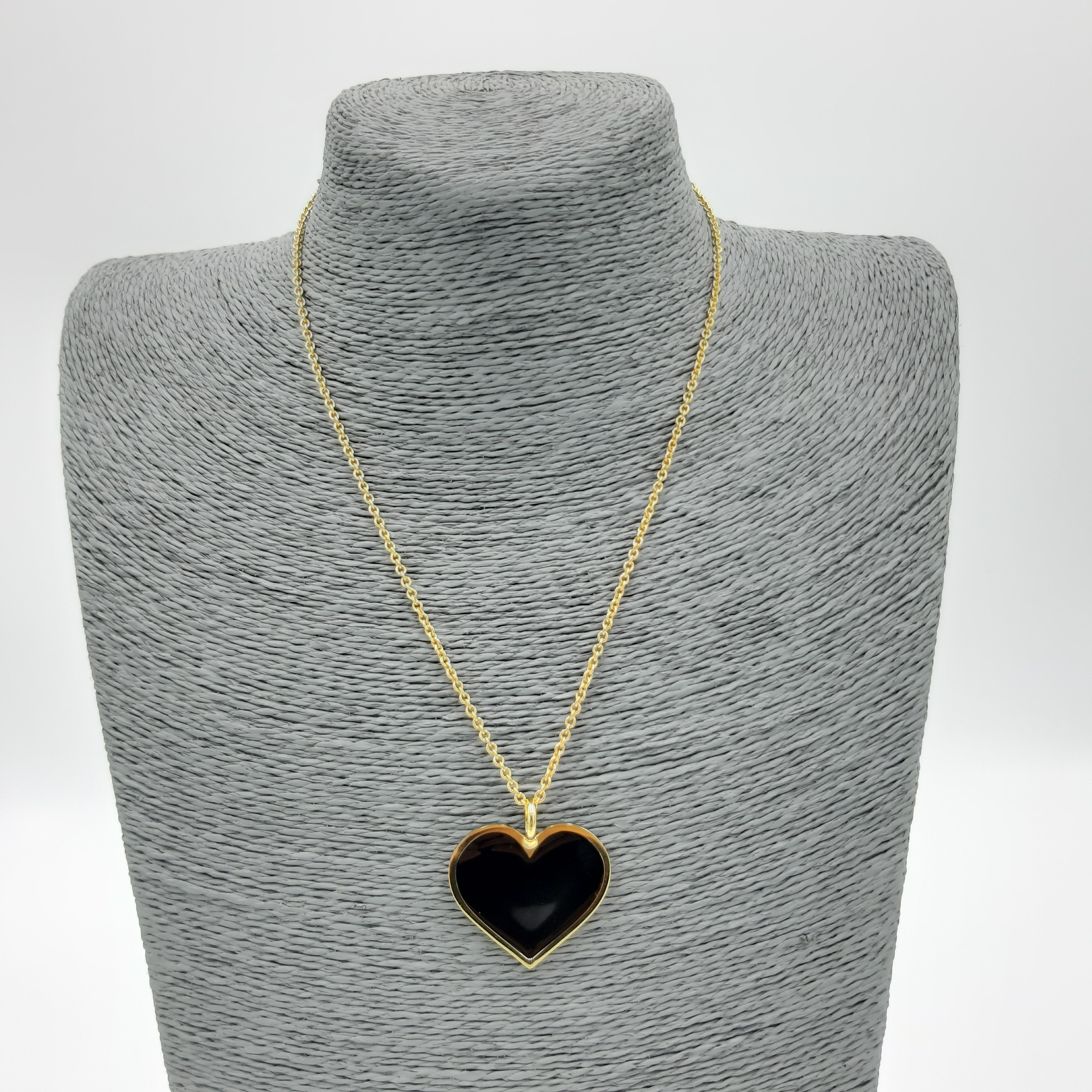 Collana con cuore nero Francesca Bianchi Design