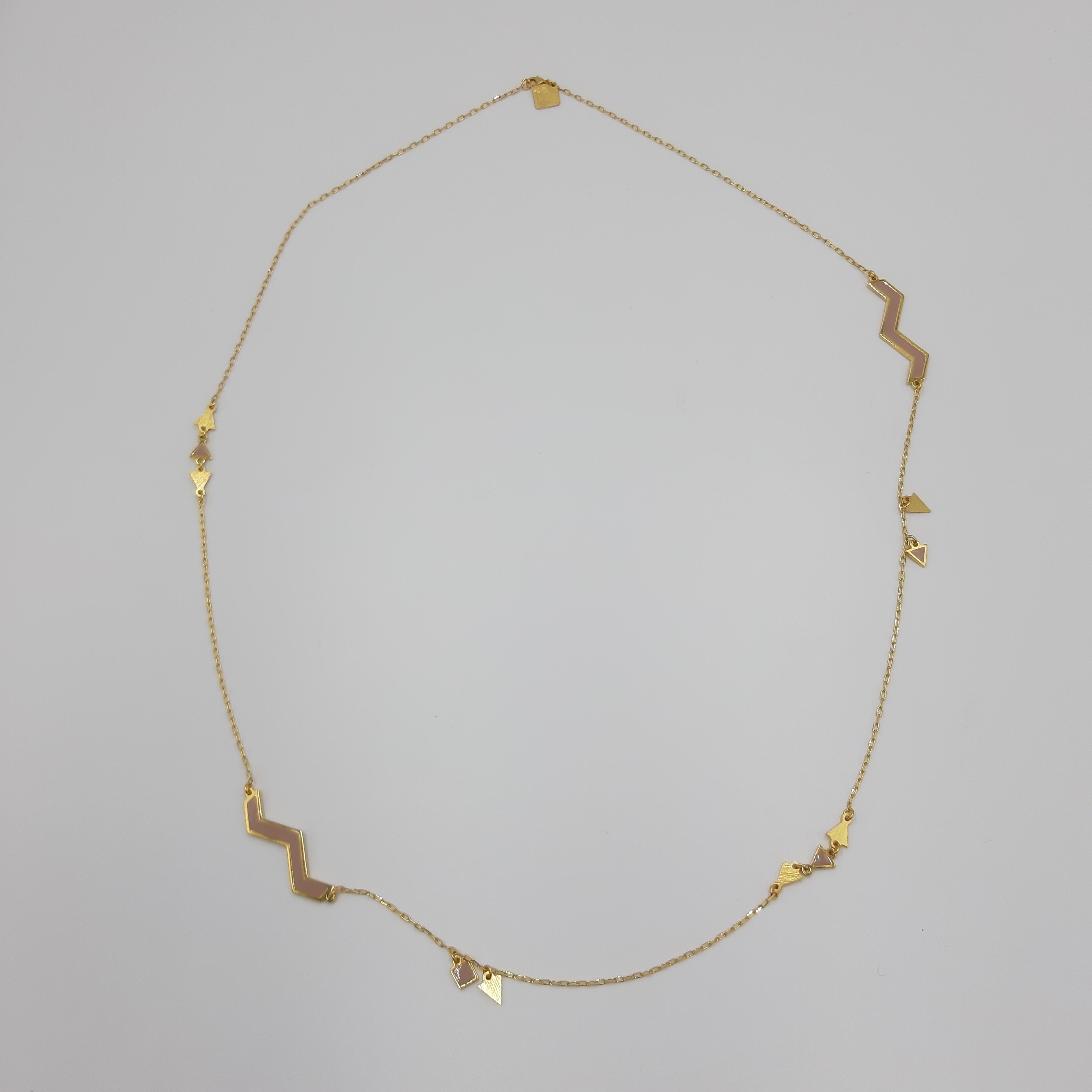Collana lunga oro e nude Francesca Bianchi Design