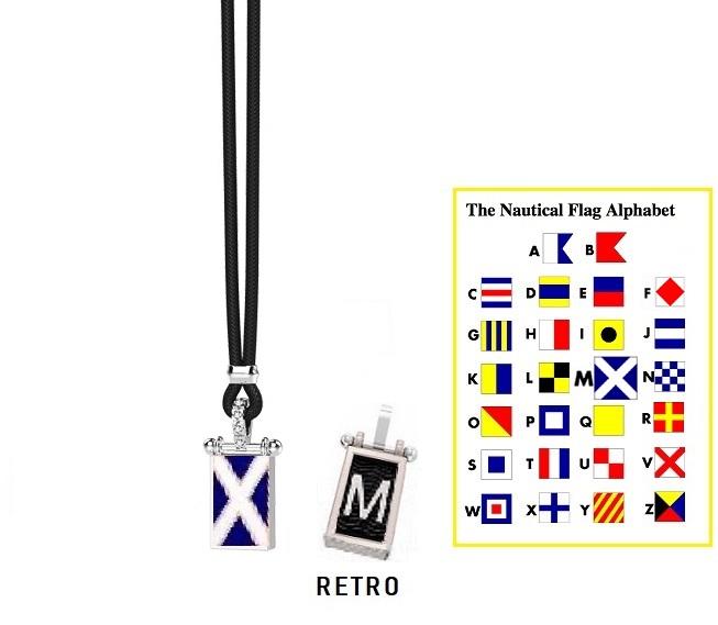Zancan Collana Nautica, Bandiera Alfabeto Nautico, Lettera M