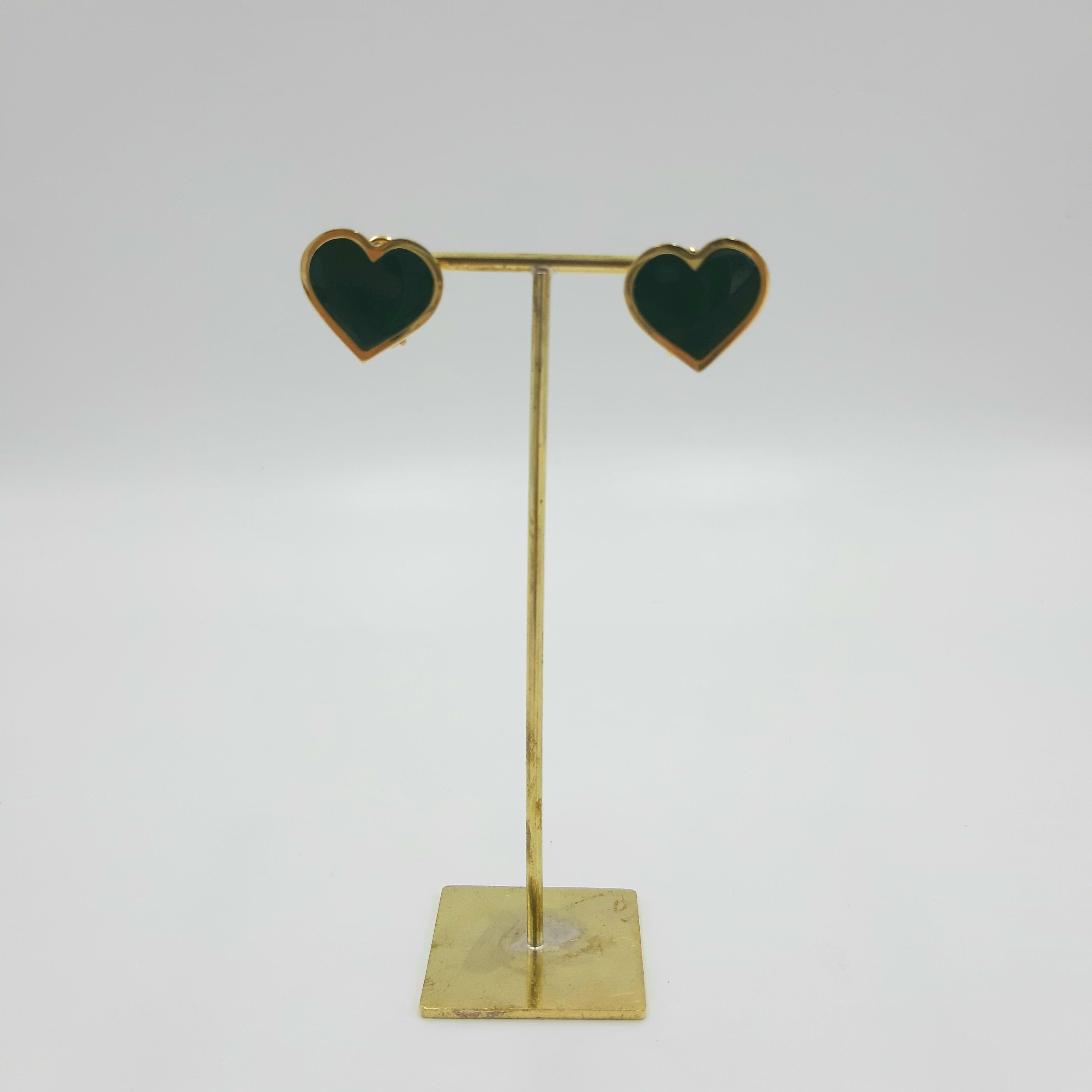 Orecchini cuore nero Francesca Bianchi Design