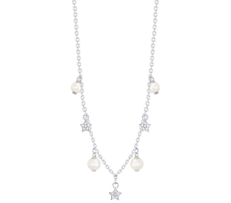 Mabina Collana Argento, Perle e Stelle