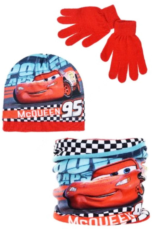 Disney Cappello Scaldacollo E Guanti Cars 3 da 3 A 7 Inverno