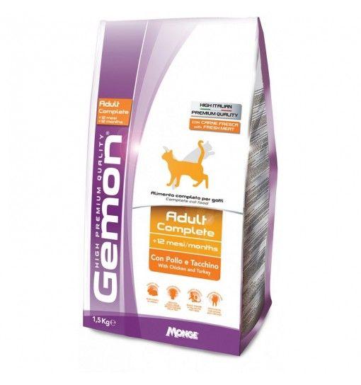 GEMON CAT ADULT POLLO E TACCHINO 1,5 KG