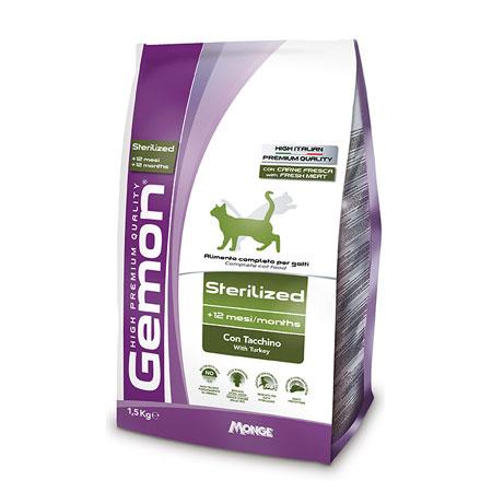 GEMON CAT STERILISED TACCHINO 1,5 KG