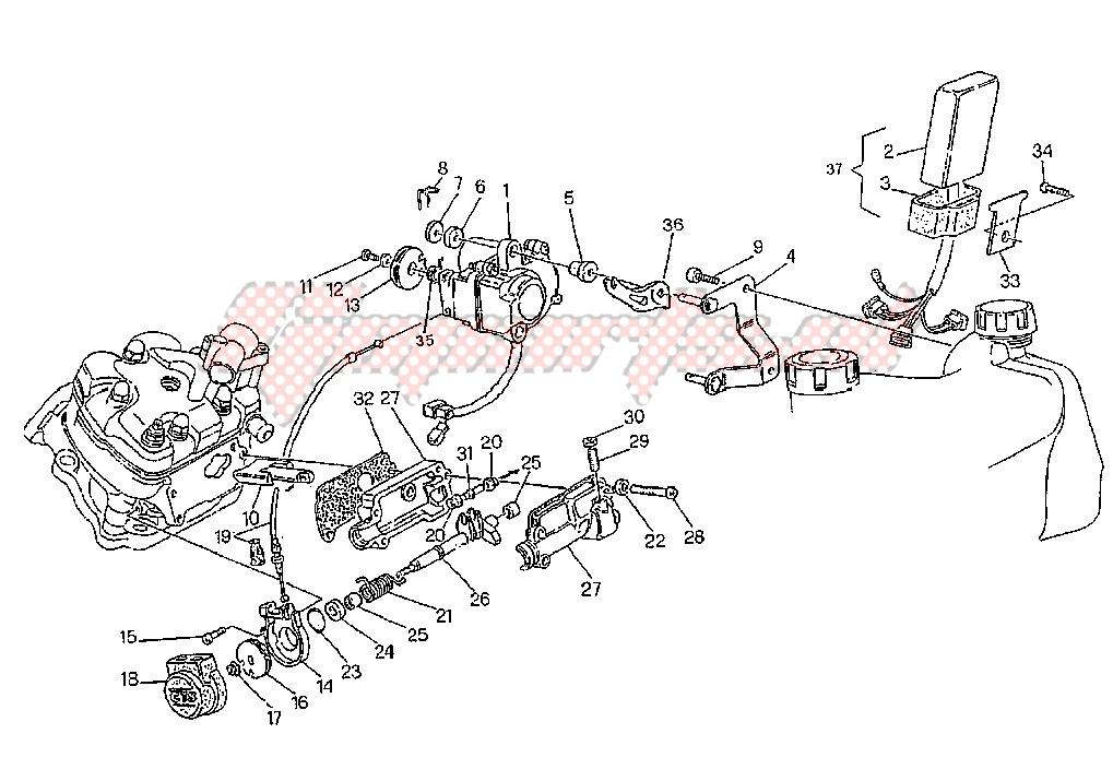 Perno Comando Valvola Cagiva W8/Mito/Raptor/Roadster/Supercity