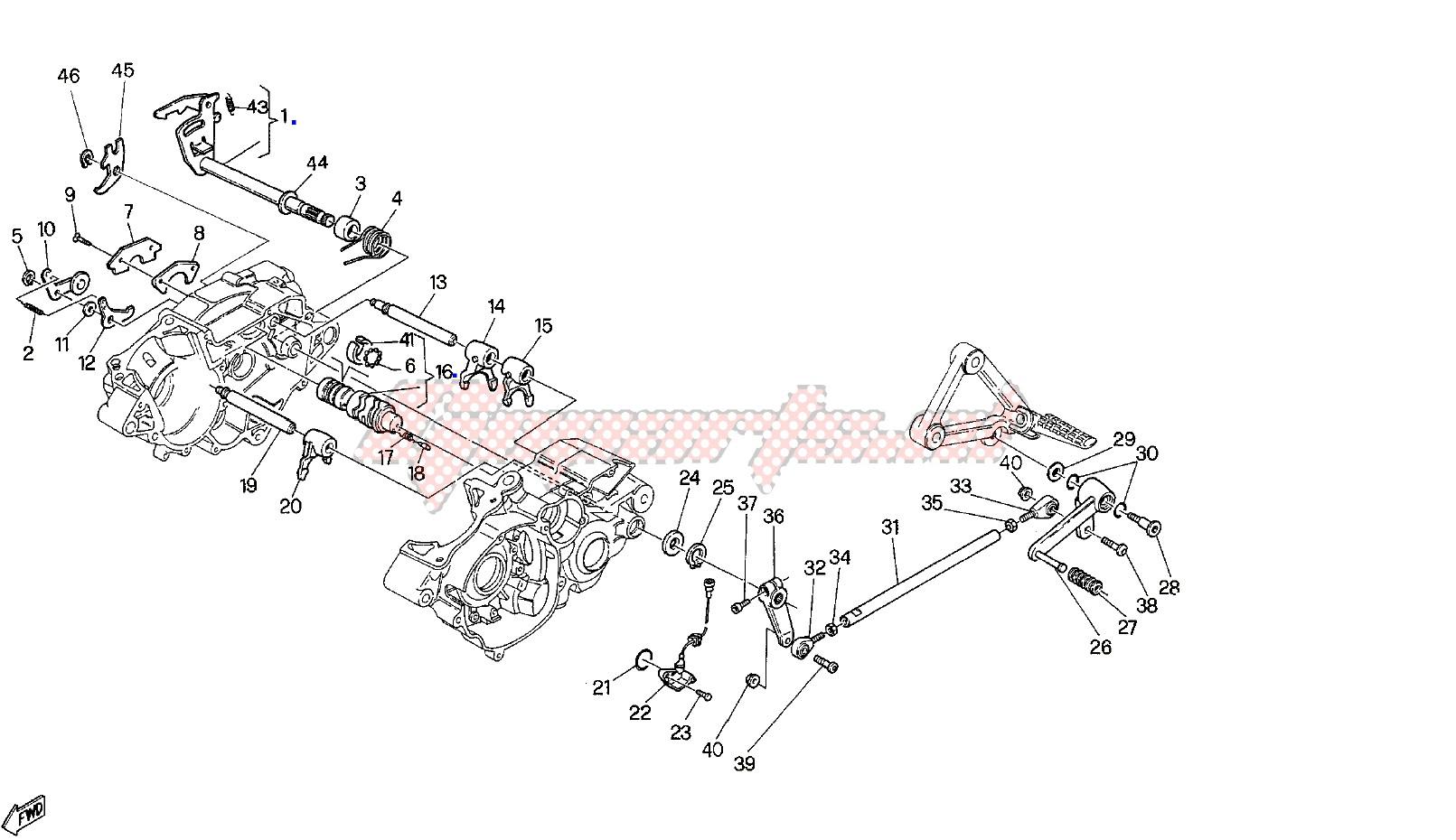 Forchetta Selettore 1A-4A Cagiva W8/Mito/Raptor/Roadster/Supercity