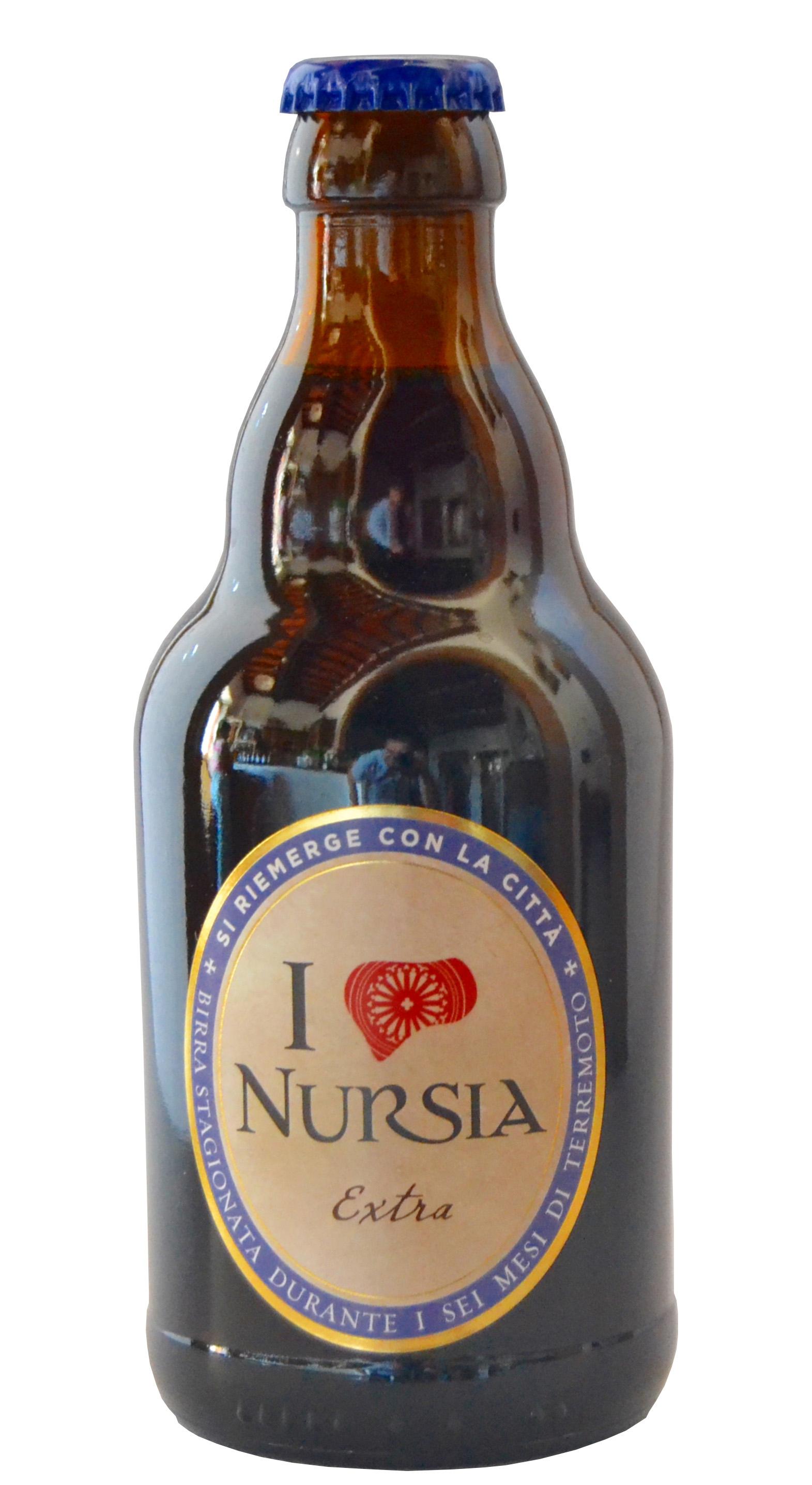 Extra dunkles Bier Nursia Flasche cl 33