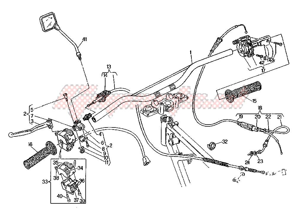 Copri Leva Frizione Cagiva W8 125