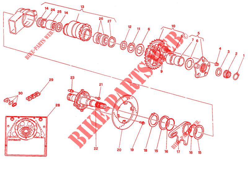 Mozzo Perno Ruota Posteriore Ducati 748 990 996 998