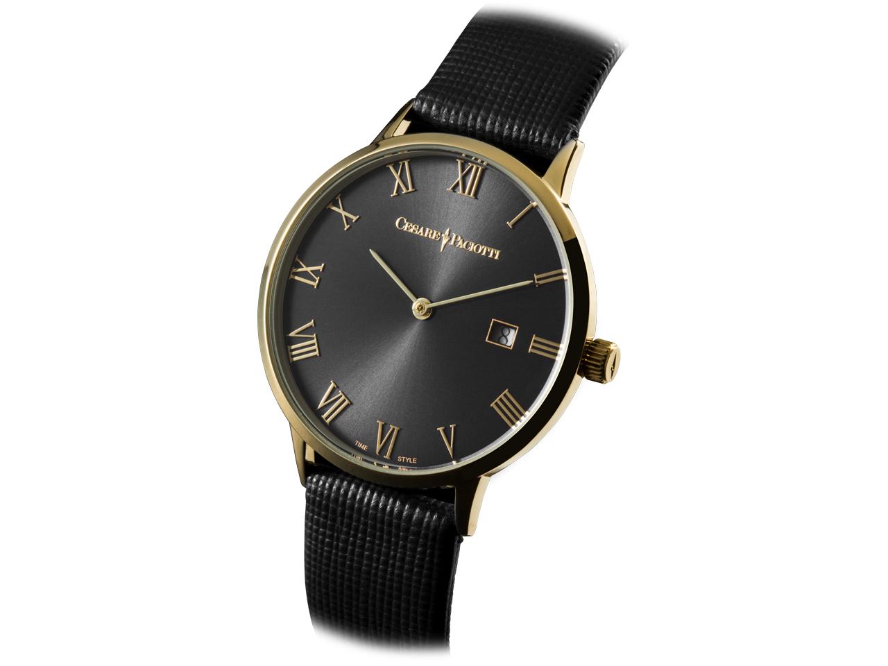 Cesare Paciotti Time Style, SOLO TEMPO - DOMINIC GOLD BLACK