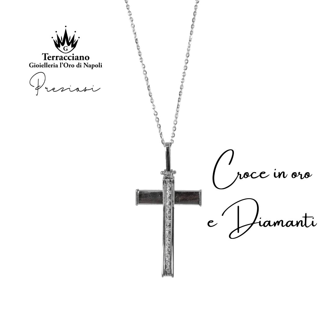 Croce Uomo con Diamanti