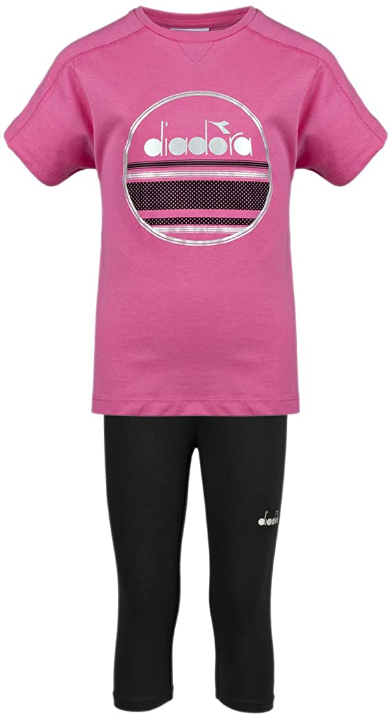 Diadora JG. Set 5PALLE T-Shirt e Leggings