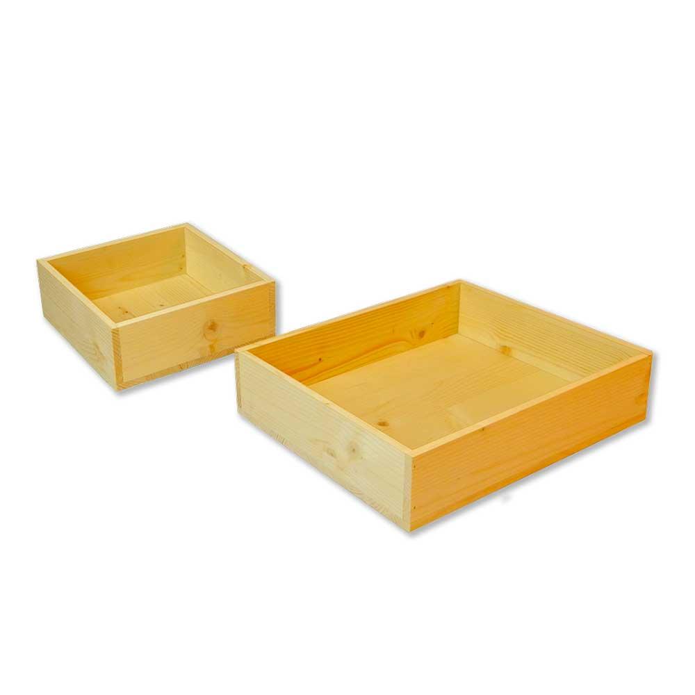 Set cassette in legno di Abete