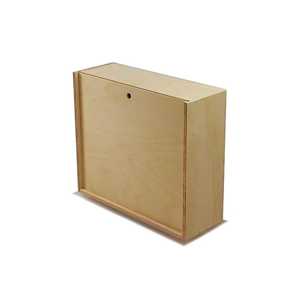 Scatola in legno con coperchio scorrevole 21,2x18,2