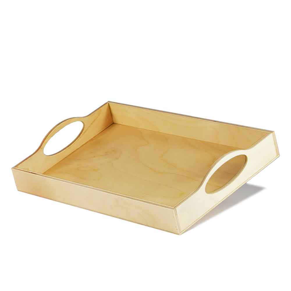 Vassoio ellisse piccolo in legno di Betulla