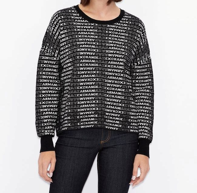 Maglione donna ARMANI EXCHANGE con logo all-over