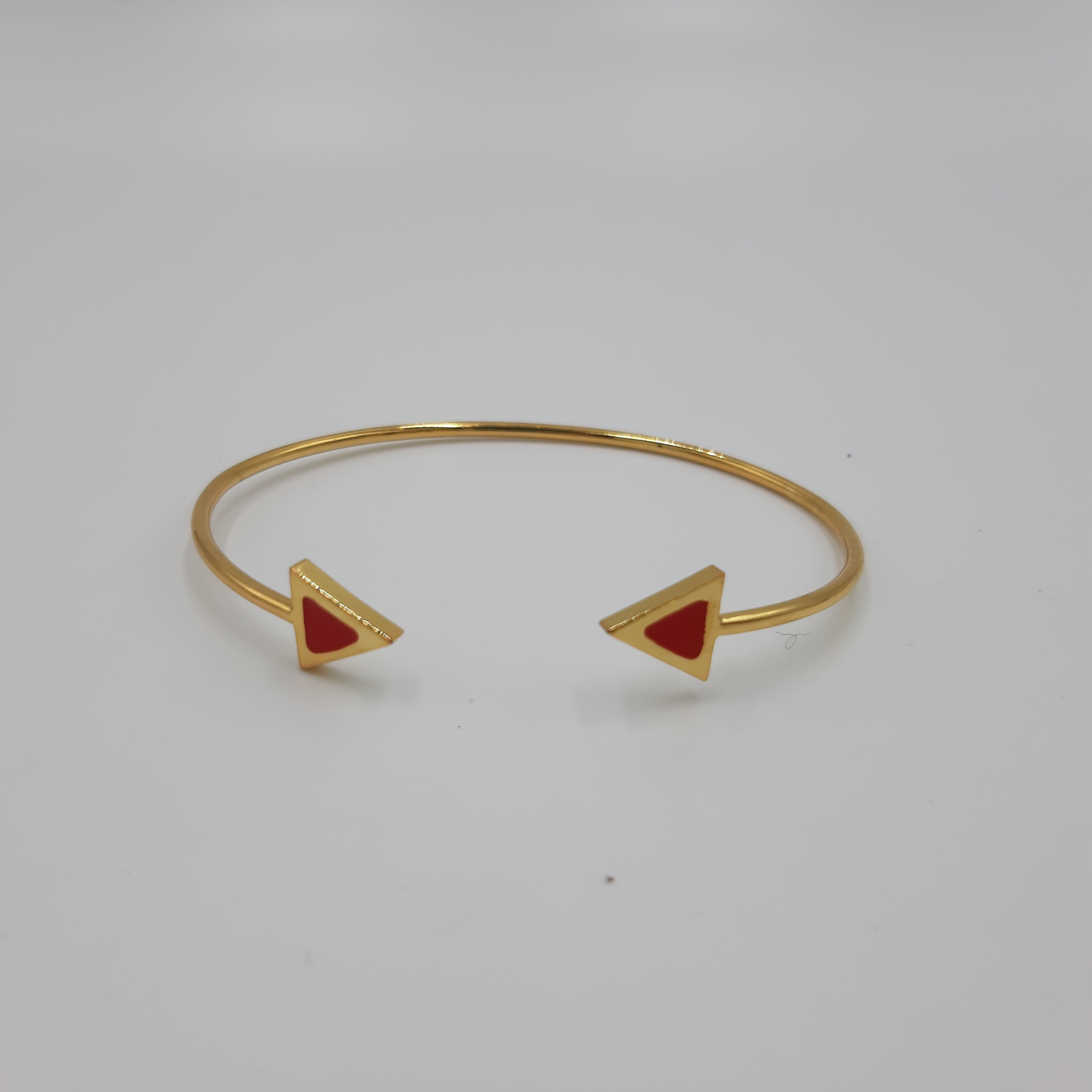 Bracciale oro open triangolo rosso Francesca Bianchi Design