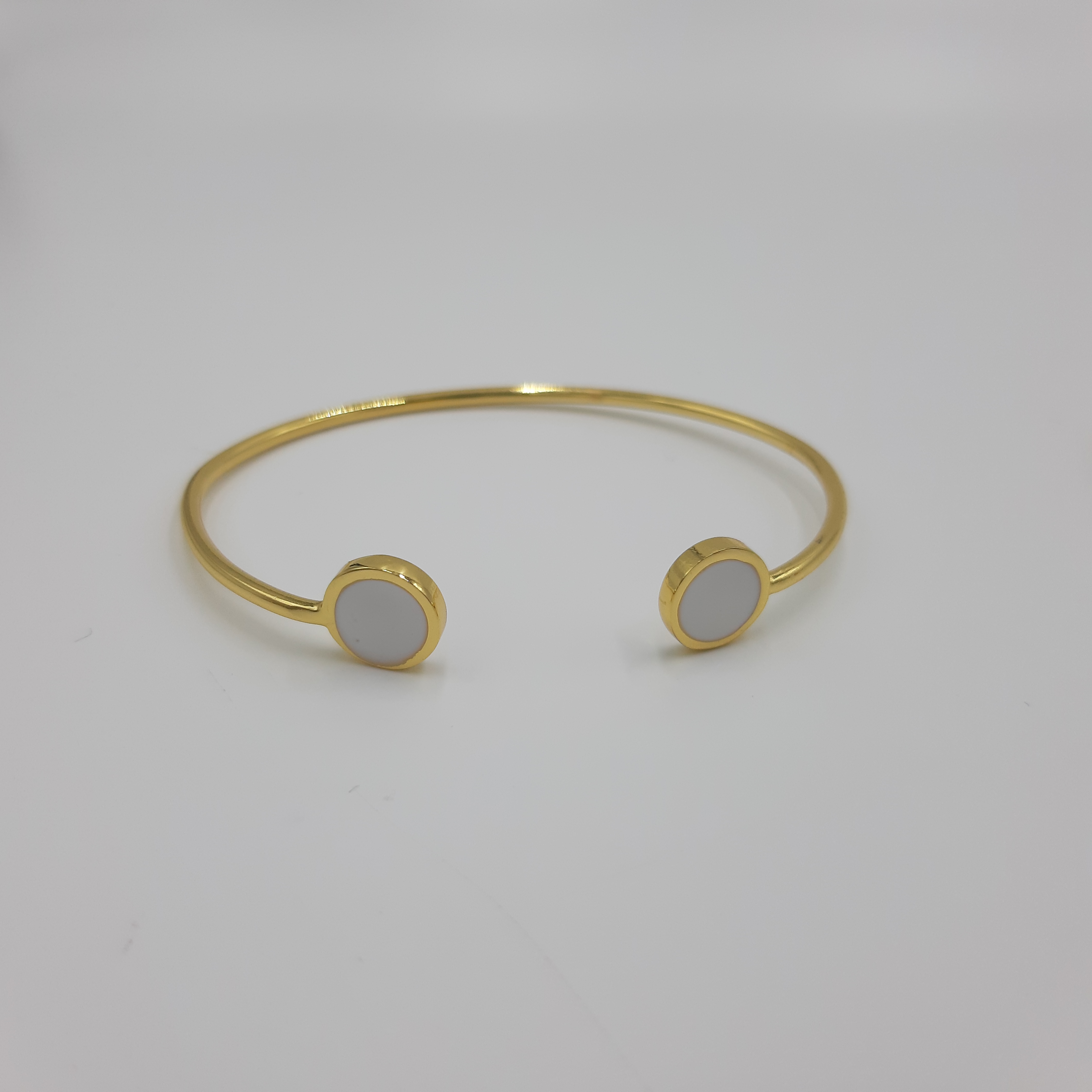 Bracciale oro open cerchio bianco Francesca Bianchi Design