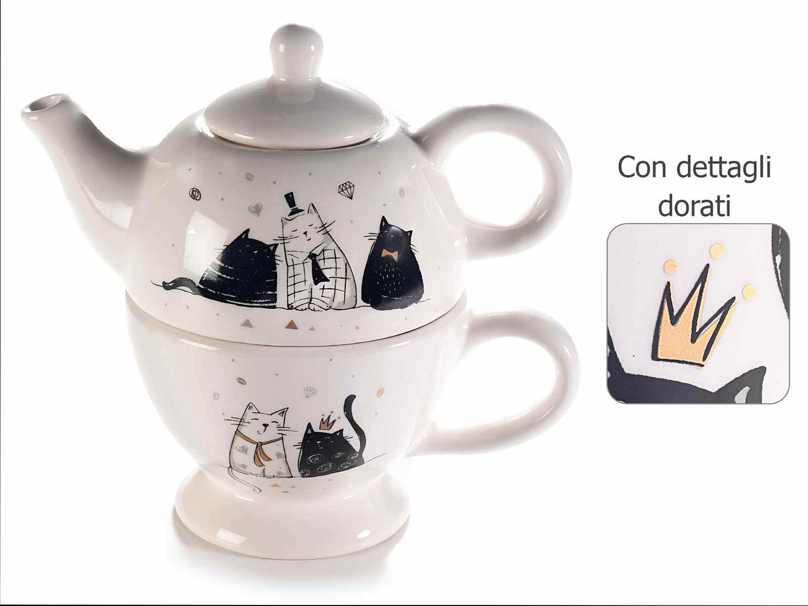 Tea For One Gatti con Cravatta