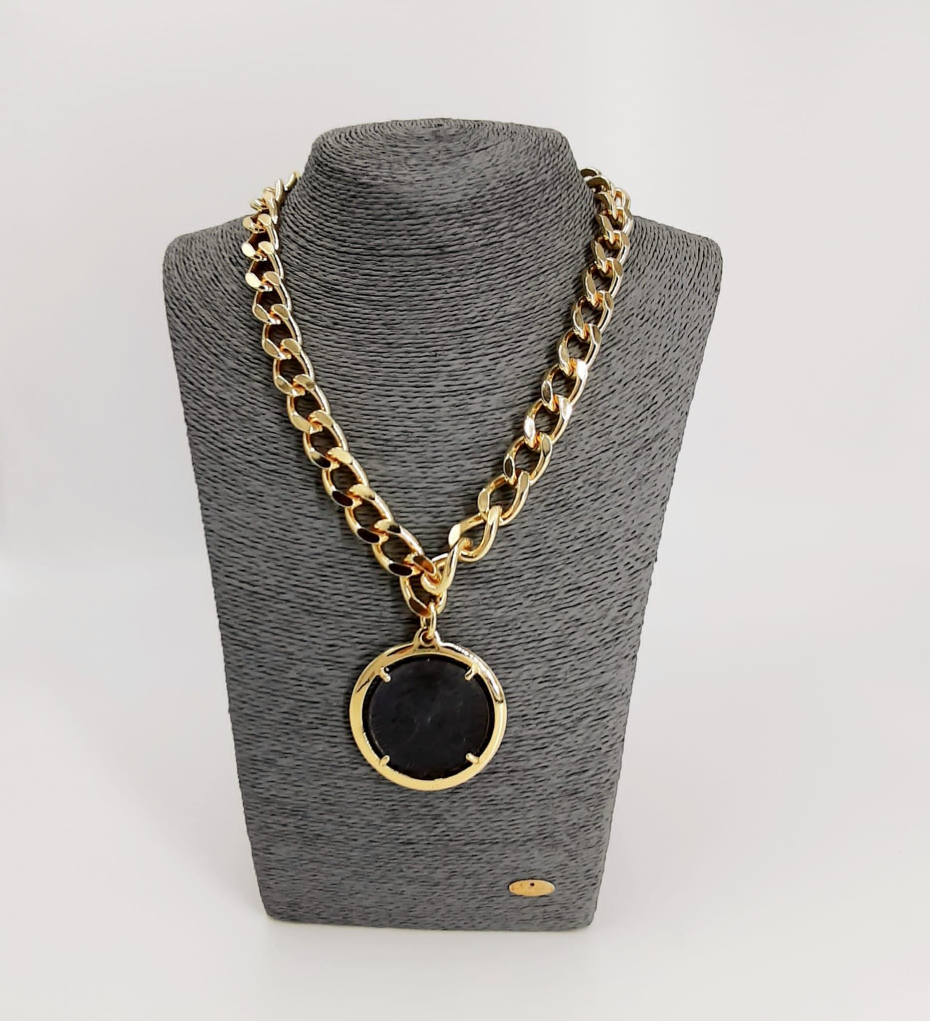 Collana oro con moneta Francesca Bianchi