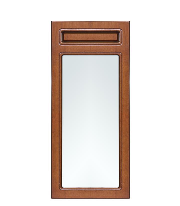Miroir étroit rectangulaire cadre en bois