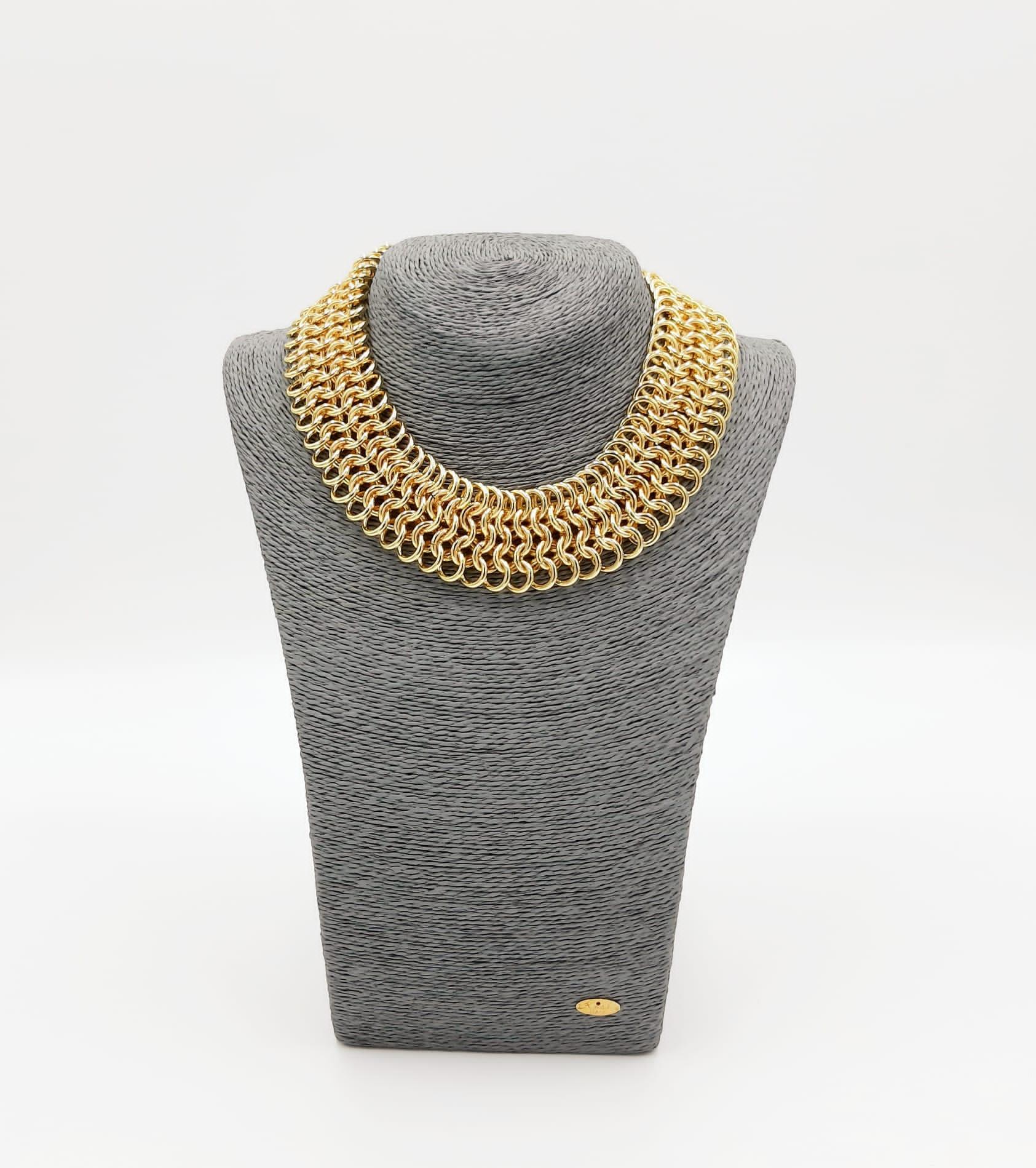Collana oro a maglia alta Francesca Bianchi Design