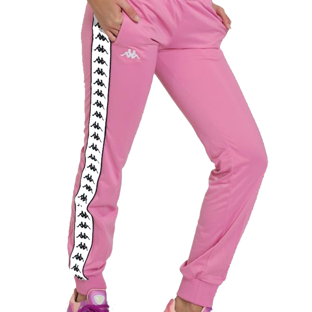 Kappa pantalone rosa 222 Banda WRastoria Slim da Donna